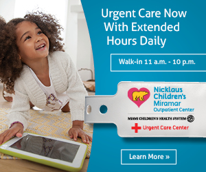 Nicklaus Children's Hospital Miramar Urgent Care Extended Hours Daily