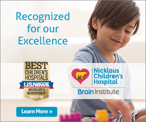The Nicklaus Children's Brain Institute has been recognized by U.S. News & World Report.