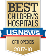 Ranked Among the Best Children's Hospitals for Orthopedics by U.S News & World Report
