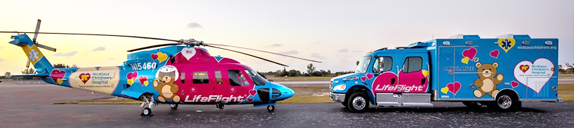 LifeFlight Helicopter and Ambulance