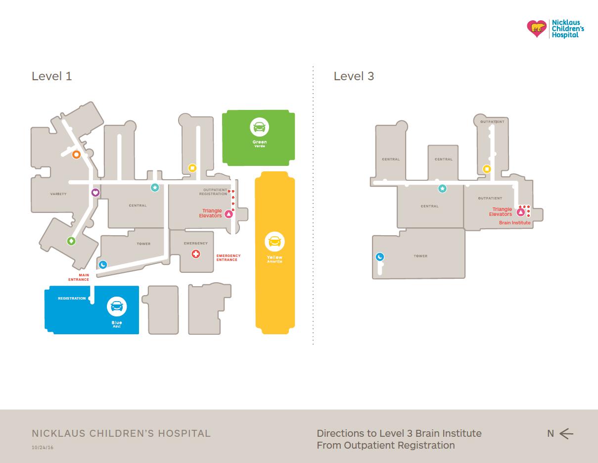 Maps and Floorplans | Nicklaus Children's Hospital