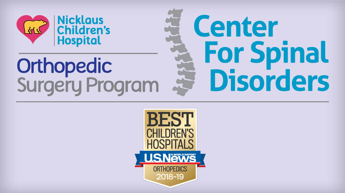 The Nicklaus Children's Hospital Center for Spinal Disorders