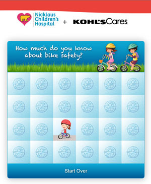Play the Kohl's Cares Bike Safety Memory Game