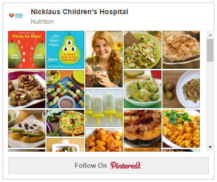 Nicklaus Children's Hospital Food & Nutrition Department Pinterest Page
