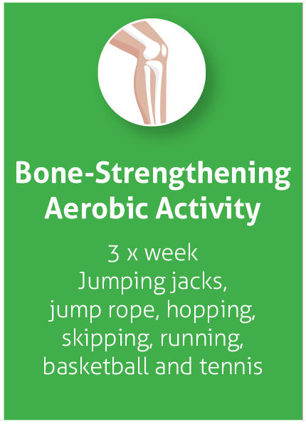 bone stregthtening aerobic activity