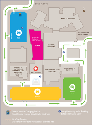 Nicklaus Children's Hospital Main Campus Map