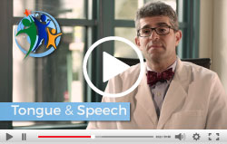 Video screen capture of Tongue and Speech Issues in BWS