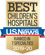 Ranked in 8 Specialties among the Best Children's Hospitals