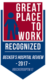 Recognized by Becker's Great Places to Work 2017