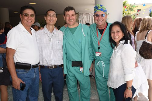 Cardiac anesthesiology team and patient