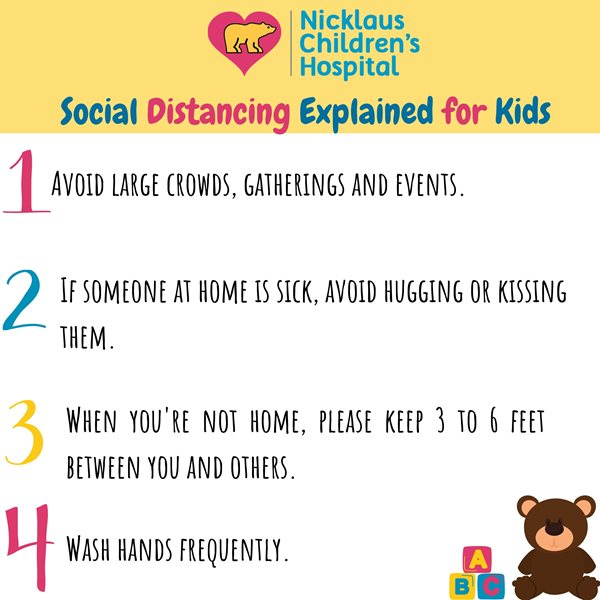 social distancing explained for kids