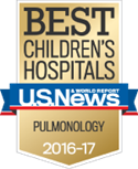 Nationally recognized as one of the best pediatric pulmonology programs by U.S. News & World Report