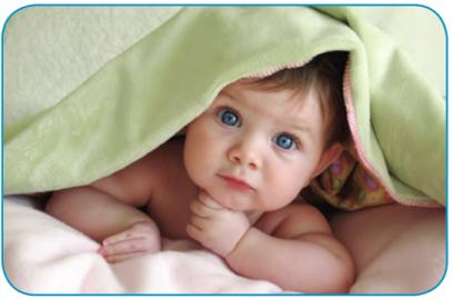 At Miami Children's Hospital we offer a comprehensive array of health services to promote healthy growth and development as well as medical management of acute and chronic conditions .- Image of baby with blanket