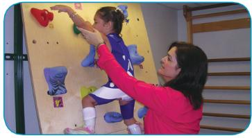 Specialty Clinics and Programs - image of child climbing wall