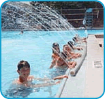 Since 1987, Miami Children's Hospital and the Lions Club of South Florida have sponsored the camp, which has benefited hundreds of children. -Image of diabetes camp pool time