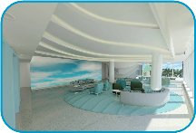 Advanced Pediatric Care Pavilion Interior Rendering Photo