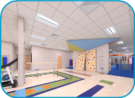 Nicklaus Outpatient Care Center Open Activity Gym Rendering Photo