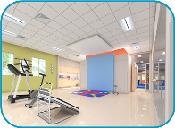 Nicklaus Outpatient Care Center Ortho Gym Rendering Photo