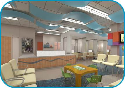 Nicklaus Outpatient Center Interior Rendering Photo