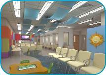 Nicklaus Outpatient Center South Waiting Area Rendering Photo