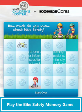 Kohl's Cares Bike Safety Memory Game