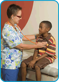 Image of Nurse with boy