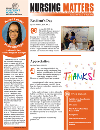 Nursing Matters Volume 11- Fall 2010