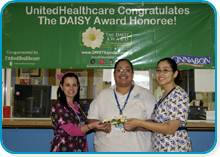 Yarelis Alicea, RN, Tania A. Martinez, RN and Zonia M. Comas, RN Daisy Award Recipients February 2009