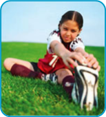 Sports Medicine Tips to Prevent Soccer Injuries-Image of child Soccer Stretch