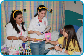 Radio Lollipop Volunteers with patient image