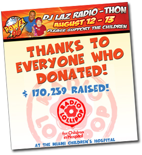 Power 96 Radio Thon 2008.. Raised $170,239